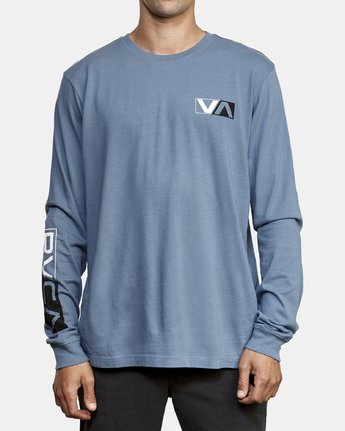 2 Lateral Long Sleeve T-Shirt Red M463WRLA RVCA