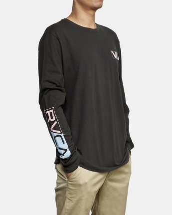3 Lateral Long Sleeve T-Shirt Black M463WRLA RVCA