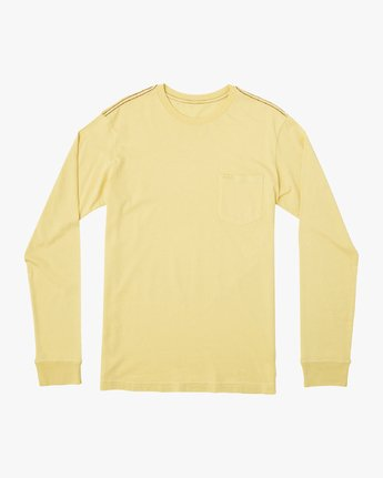 0 PTC Pigment Long Sleeve T-Shirt Yellow M467TRPT RVCA