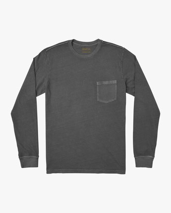 0 PTC Pigment Long Sleeve T-Shirt Black M467TRPT RVCA