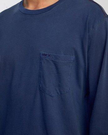7 PTC PIGMENT LONG SLEEVE TEE Blue M467TRPT RVCA