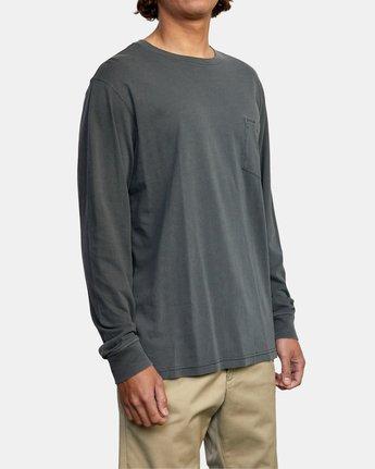 9 PTC Pigment Long Sleeve TEE Black M467TRPT RVCA