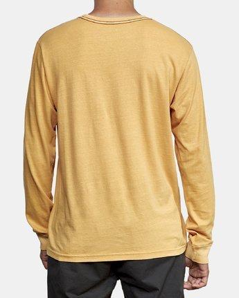 3 PTC Pigment Long Sleeve T-Shirt Red M467TRPT RVCA