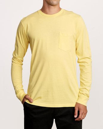 1 PTC Pigment Long Sleeve T-Shirt Yellow M467TRPT RVCA