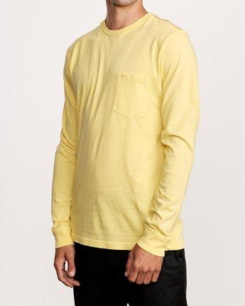 2 PTC Pigment Long Sleeve T-Shirt Yellow M467TRPT RVCA