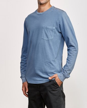 2 PTC Pigment Long Sleeve T-Shirt Blue M467TRPT RVCA