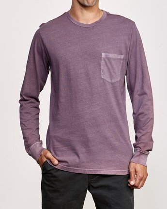 1 PTC Pigment Long Sleeve T-Shirt Blue M467TRPT RVCA