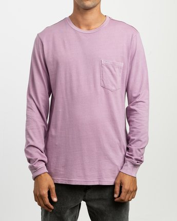 1 PTC Pigment Long Sleeve T-Shirt Purple M467TRPT RVCA