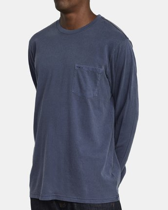 4 PTC PIGMENT LONG SLEEVE T-SHIRT Blue M467TRPT RVCA