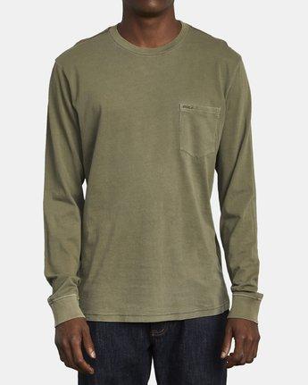 1 PTC Pigment Long Sleeve T-Shirt Green M467TRPT RVCA