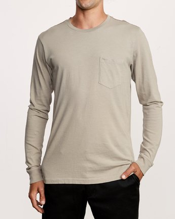 1 PTC Pigment Long Sleeve T-Shirt Multicolor M467TRPT RVCA