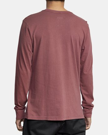 5 PTC PIGMENT LONG SLEEVE T-SHIRT Red M467TRPT RVCA