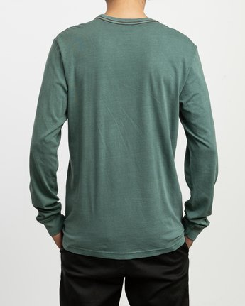 3 PTC Pigment Long Sleeve T-Shirt Green M467TRPT RVCA