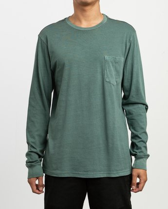 1 PTC Pigment Long Sleeve T-Shirt Green M467TRPT RVCA