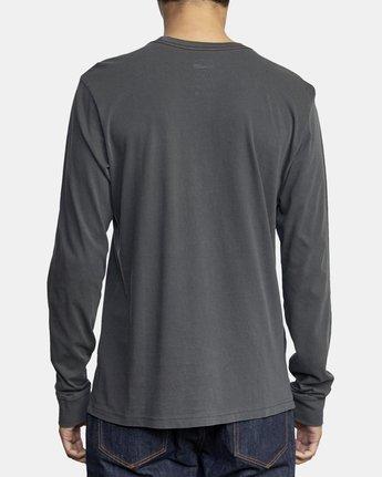 3 PTC Pigment Long Sleeve T-Shirt Black M467TRPT RVCA