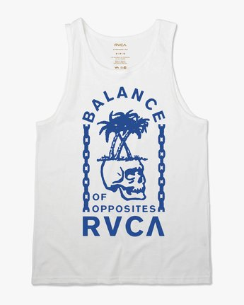 0 Bad Palms Tank Top White M481URBA RVCA