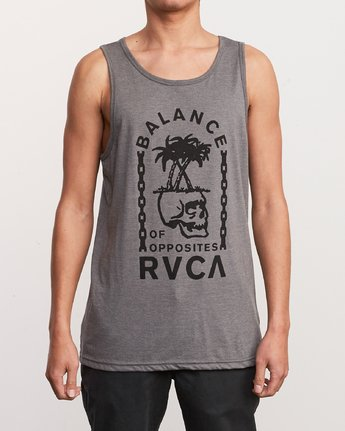 1 Bad Palms Tank Top Grey M481URBA RVCA