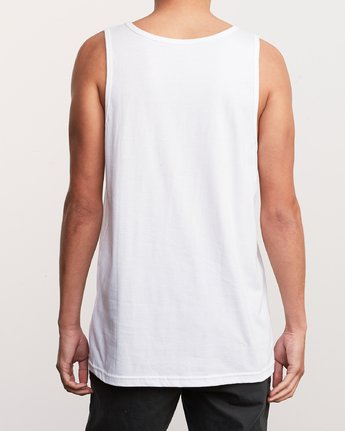 3 Bad Palms Tank Top White M481URBA RVCA