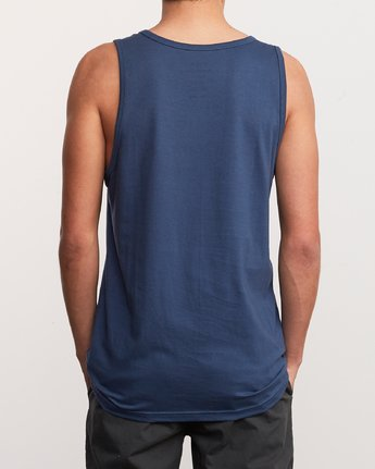3 Blinded Tank Top Blue M481URBL RVCA