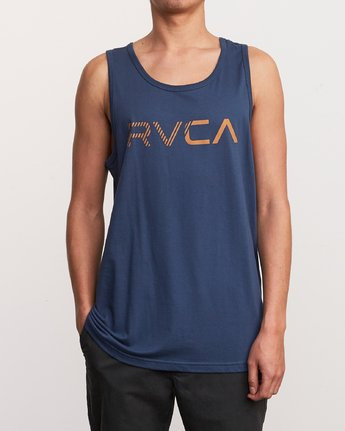 1 Blinded Tank Top Blue M481URBL RVCA