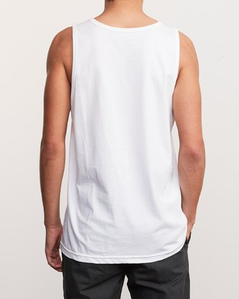 3 Blinded Tank Top White M481URBL RVCA