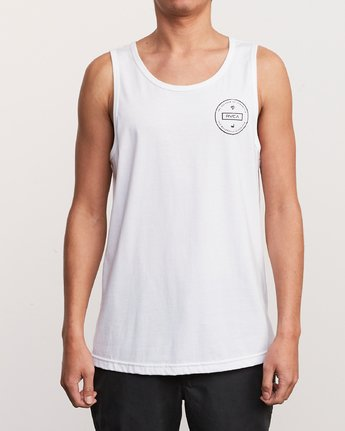 2 Induseal Tank Top White M481URIN RVCA