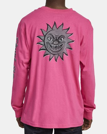 5 CRUEL SUMMER LONG SLEEVE T-SHIRT Pink M4921RCR RVCA