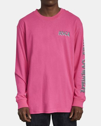 1 CRUEL SUMMER LONG SLEEVE T-SHIRT Pink M4921RCR RVCA