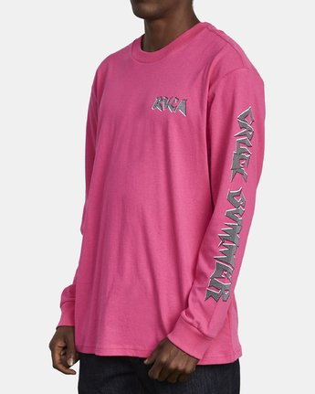 3 CRUEL SUMMER LONG SLEEVE T-SHIRT Pink M4921RCR RVCA