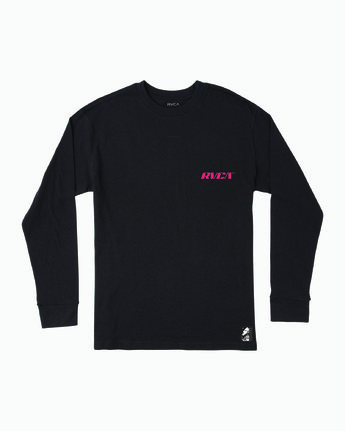 0 VIRGO LONG SLEEVE T-SHIRT Black M4921RVO RVCA