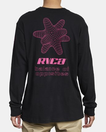8 VIRGO LONG SLEEVE T-SHIRT Black M4921RVO RVCA