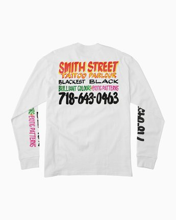 0 Smith Street Nurse 2 Long Sleeve T-Shirt White M492QRSP RVCA
