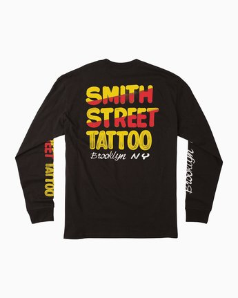 1 Smith Street Nurse 1 Long Sleeve T-Shirt Black M492QRST RVCA
