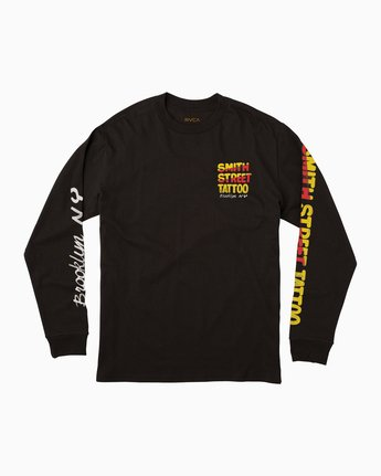 0 Smith Street Nurse 1 Long Sleeve T-Shirt Black M492QRST RVCA