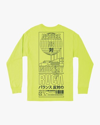 0 Super Fun Long Sleeve T-Shirt Yellow M492TRSU RVCA