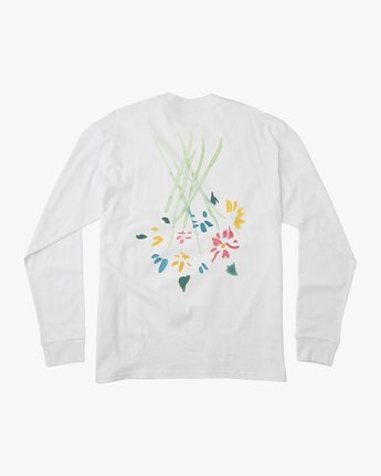0 AR Lottie Flower Long Sleeve T-Shirt White M492URLF RVCA