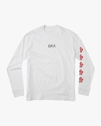 1 AR Lottie Flower Long Sleeve T-Shirt White M492URLF RVCA