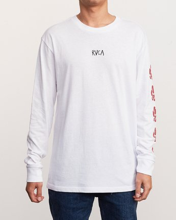 2 AR Lottie Flower Long Sleeve T-Shirt White M492URLF RVCA