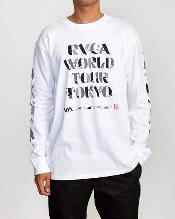 2 Mhak Tokyo Long Sleeve T-Shirt White M492VRMH RVCA