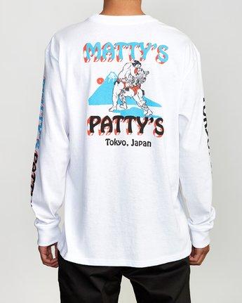 5 Matty's Patty's Long Sleeve Tokyo T-Shirt  M492VRMT RVCA