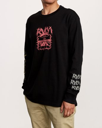2 Nuke Long Sleeve T-Shirt Black M492VRNU RVCA