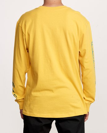 4 Nuke Long Sleeve T-Shirt Yellow M492VRNU RVCA