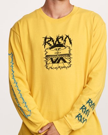 5 Nuke Long Sleeve T-Shirt Yellow M492VRNU RVCA