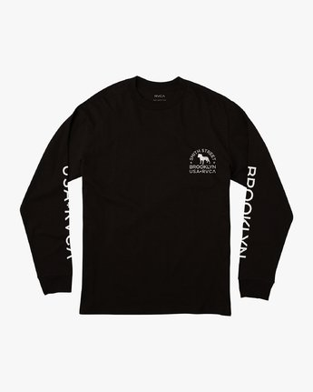 1 Smith Street Long Sleeve T-Shirt Black M492VRWI RVCA