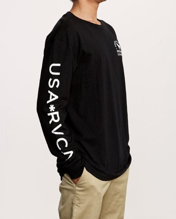 5 Smith Street Long Sleeve T-Shirt Black M492VRWI RVCA