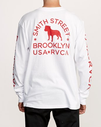5 Smith Street Long Sleeve T-Shirt White M492VRWI RVCA