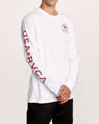 4 Smith Street Long Sleeve T-Shirt White M492VRWI RVCA