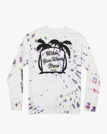 0 Wish You Were Here Long Sleeve T-Shirt White M492VRWY RVCA