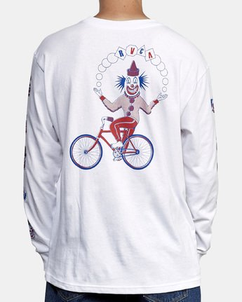 5 Big Top Long Sleeve T-Shirt White M492WRBT RVCA