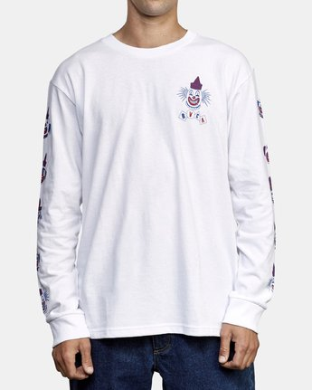 2 Big Top Long Sleeve T-Shirt White M492WRBT RVCA